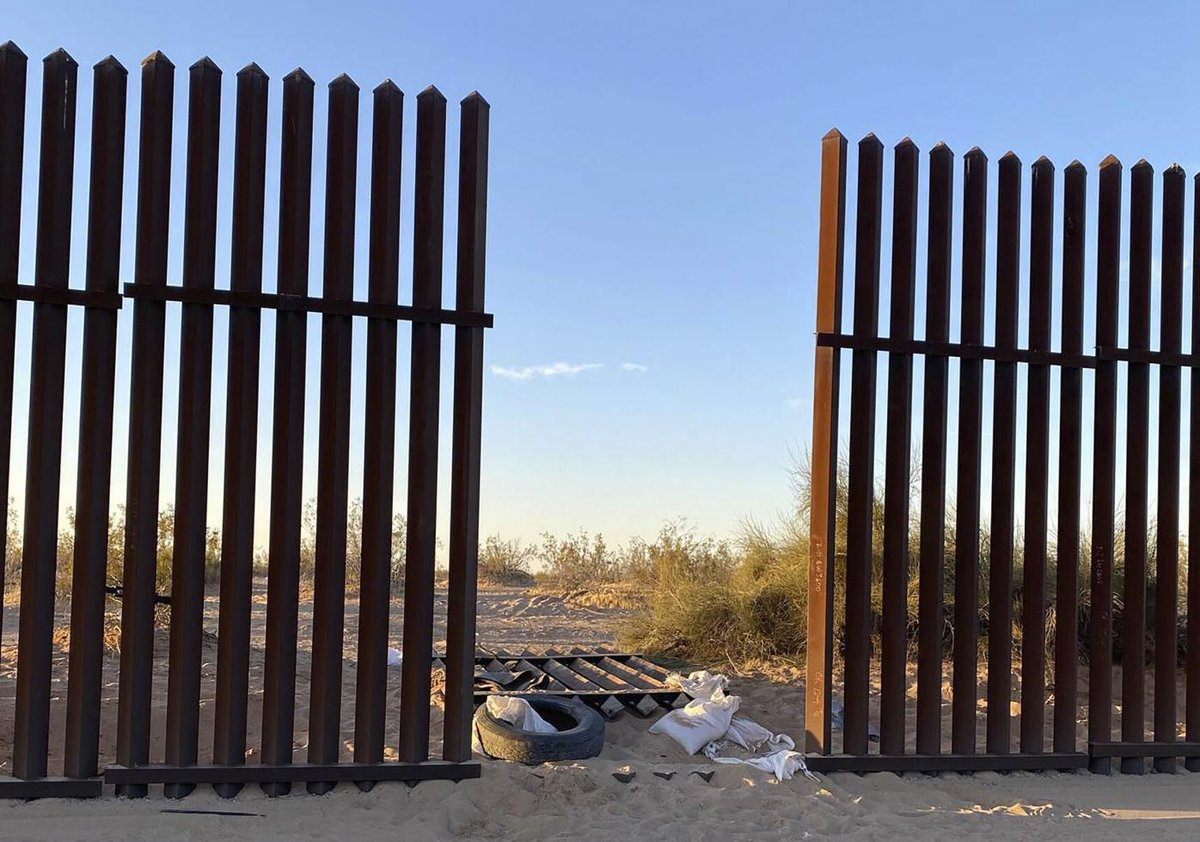 The new American reality under Joe Biden and Nancy Pelosi:   - An open national border with no guards; and - A barbed wire fence at the Capitol to protect our politicians