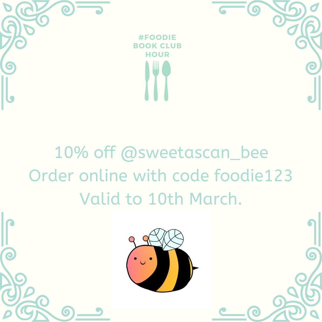 Thank you to  @sweetascan_bee  for sponsoring this weeks #foodiebookclubhour  Help support this #smallbusiness & buy, RT, share & get 10% discount when you use code foodie123   #fridaymotivation #fridaymorning