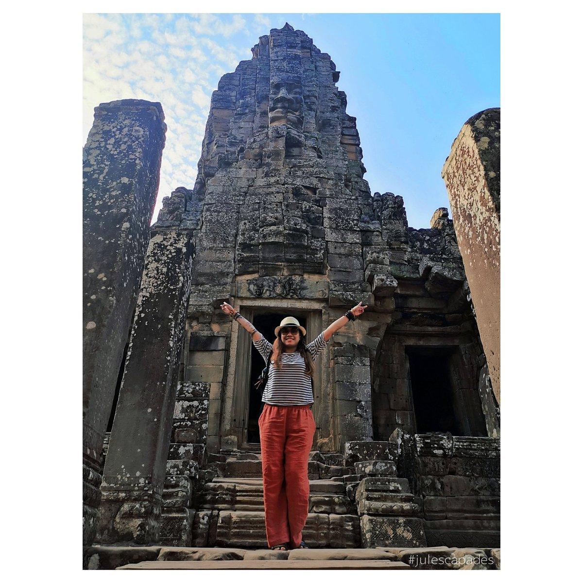Say Veeeeeee 💜😁  #julescapades #wheninCambodia #teamcrediblestravels #jpyksTravels #templerun #lol #travelasia  #travelphotography #cambodia #ruins #traveldiaries #travelblog #travelblogger #travelvlog #architecture #asia #southeastasia #asian #throwback #flashbackfriday