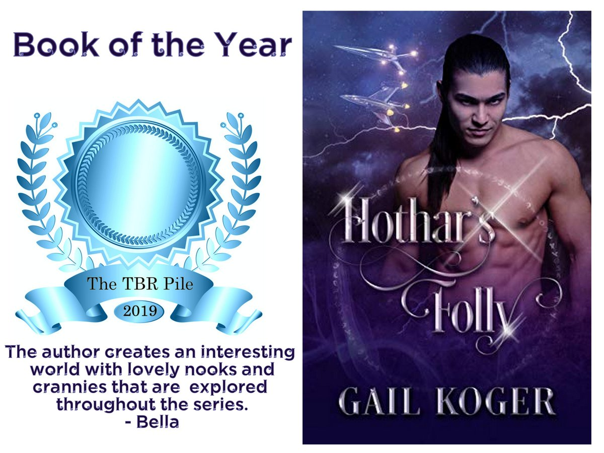 Hothar's Folly won The TBR Pile's BOOK OF THE YEAR. It's Smoking HOT and A MUST Read. I loved Casey! She's fierce and badass and telekinetic.   #scifi #comedy #romance