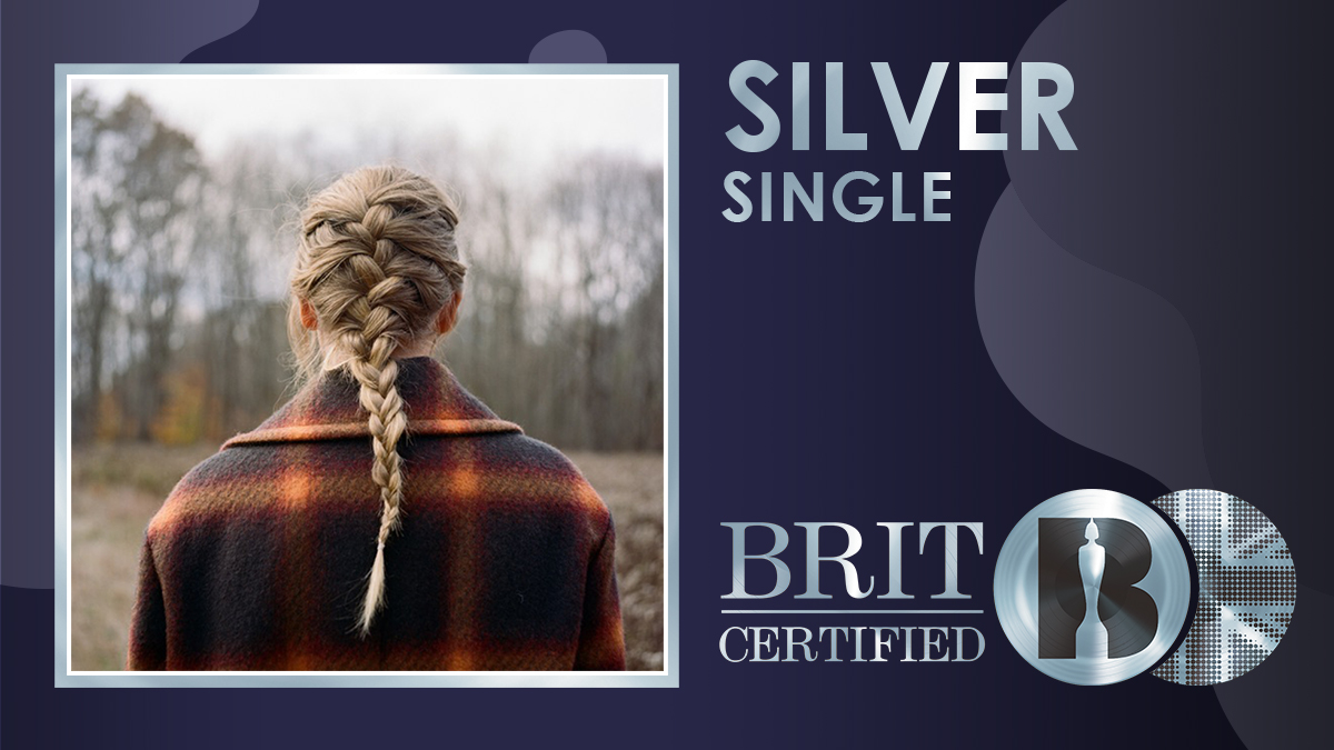 ✨ 'willow', the lead single from @taylorswift13's second surprise album of 2020 'evermore', has gone #BRITcertified Silver! 💿