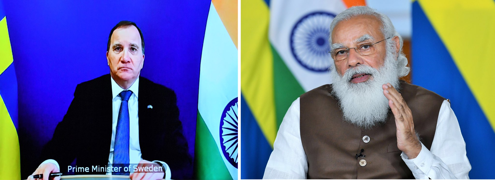 India and Sweden can further enhance ties in different fields, PM Modi tells his Swedish counterpart Stefan Löfven