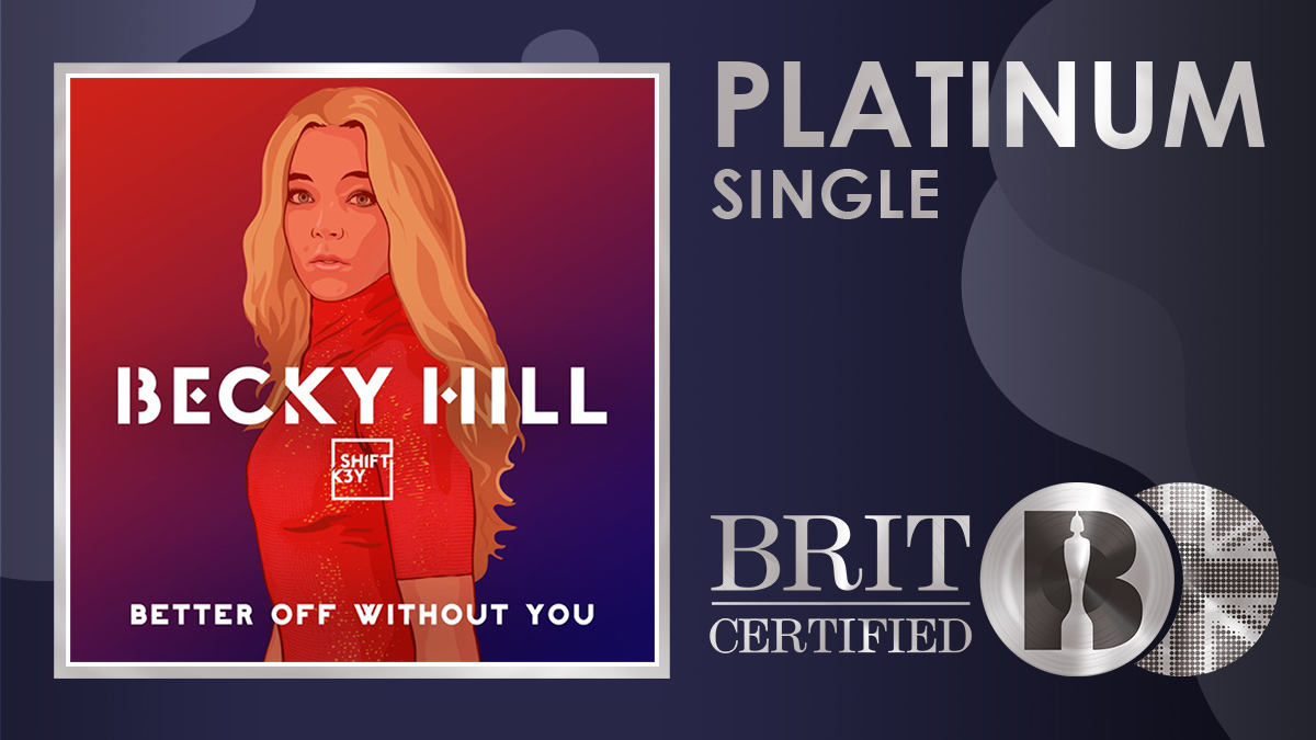 💘 'Better Off Without You', the massive single from @BeckyHill featuring @shiftk3y, is now #BRITcertified Platinum! 💿