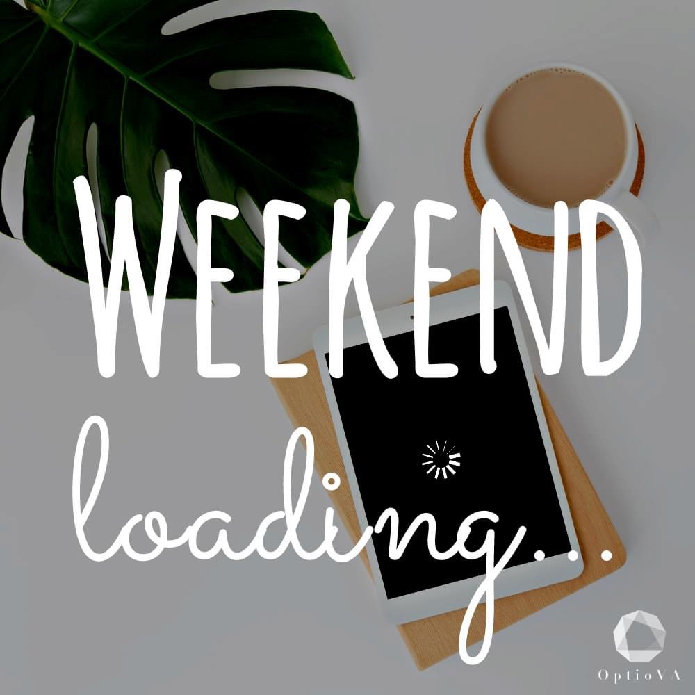 Weekend loading...   Are you switching off for the weekend?  #FridayFeeling #weekendvibes