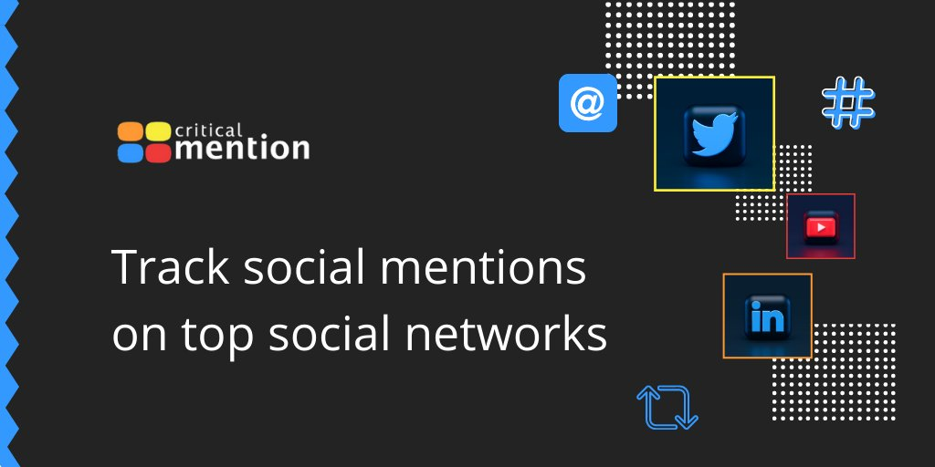 Improve your #socialmedia strategy by being able to track and analyze your media mentions:  #brand #socialanalytics