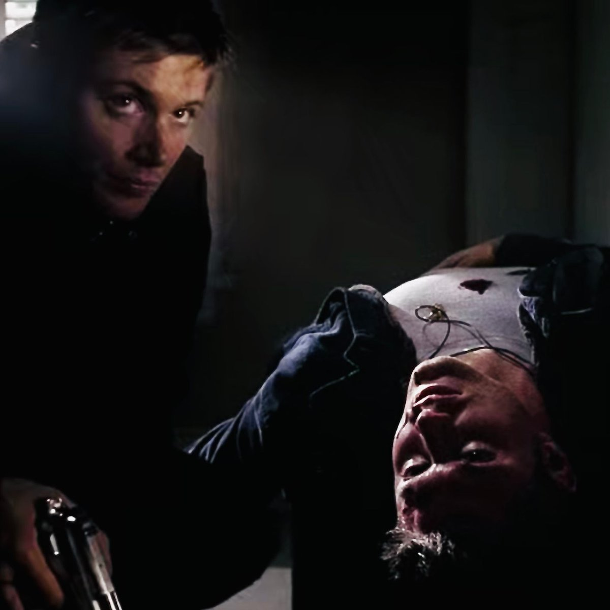 SKIN: Which is the real Dean?  Only the amulet will tell. DO YOU HAVE A DOPPELGANGER?  LISTEN LINK IN THE BIO  #saltandburnthis #supernatural #spn #SPNFamily #samanddean #supernaturalfans #JensenAckles #JaredPadalecki