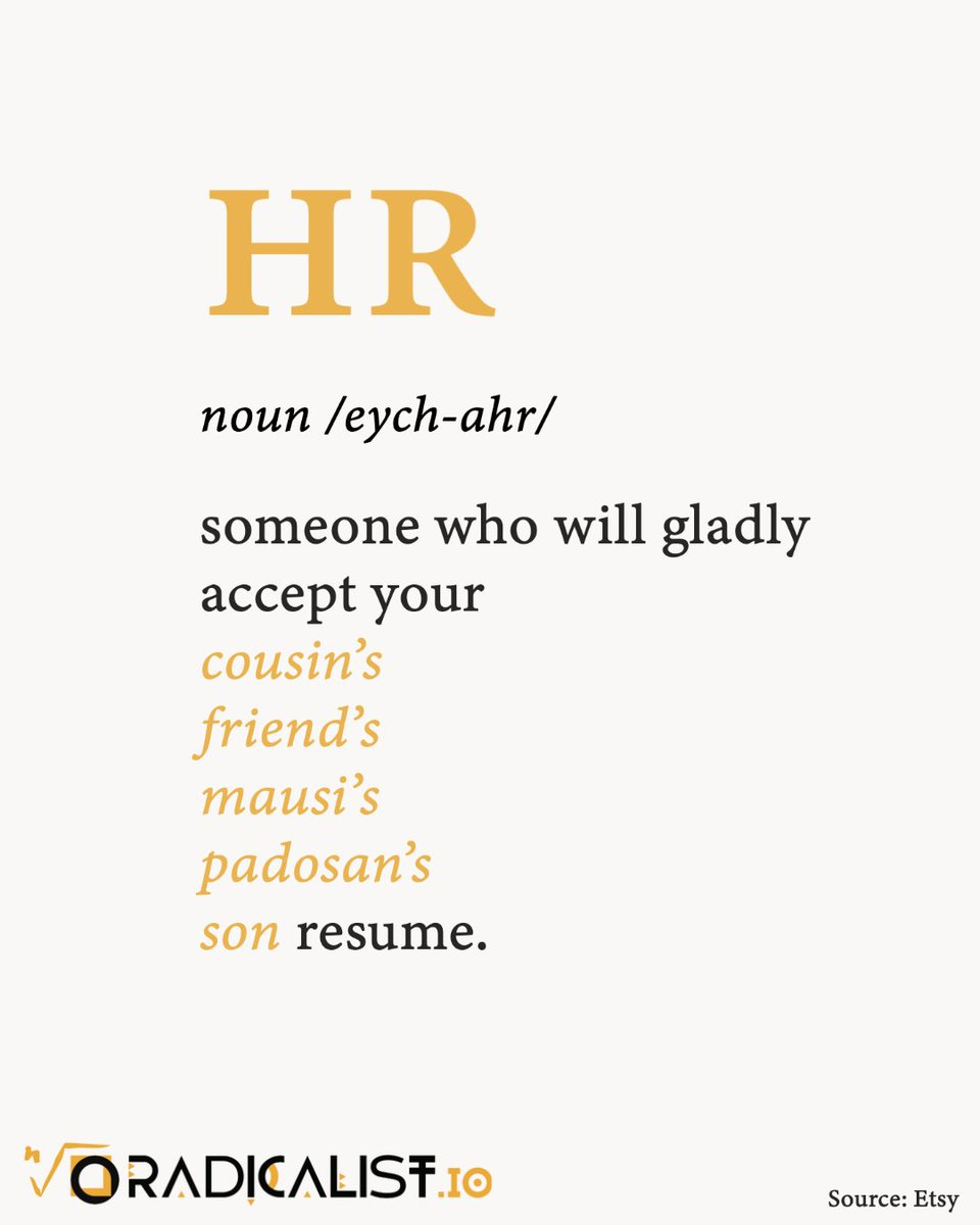 #RadicalistLabs #HR #Humor #Life #People #Jobs #Career #Hiring #Today #Leadership #HRTech #AIScreening #Recruiting #Experience #Employment #HumorResources