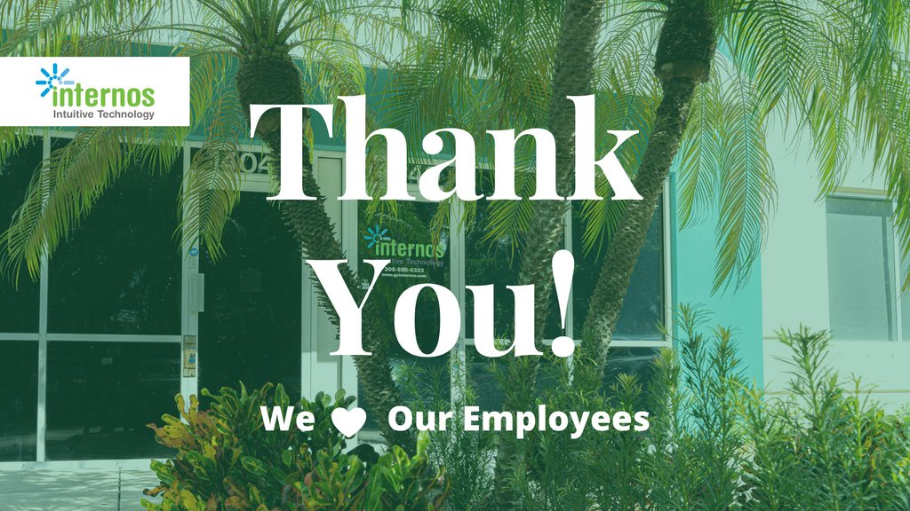 It's Employee Appreciation Day! For the past 18 years, our team has worked tirelessly to achieve our goal of providing the best IT services in Miami. We wouldn't be where we are today without them!  #employeeappreciationday