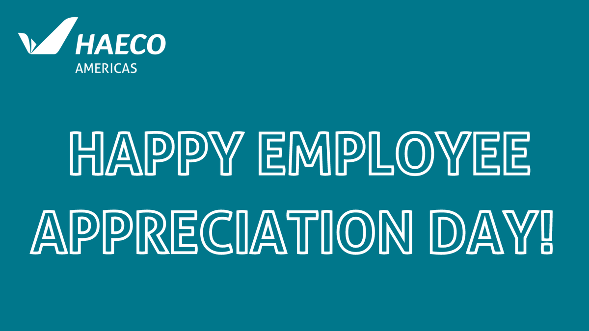We appreciate every single employee here at HAECO Americas, and we are grateful to have such an amazing team of dedicated, hardworking individuals. Thank you!  Happy #EmployeeAppreciationDay