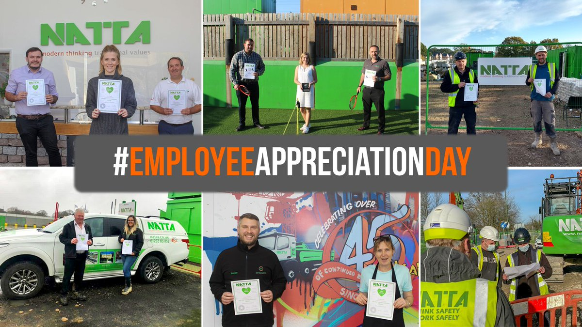 Happy #EmployeeAppreciationDay! We would like to give a huge thanks to all of #TeamNatta at Head Office and on-site for working hard and always #GettingItDone.  #InvestorsInPeople #Construction #LoveConstruction