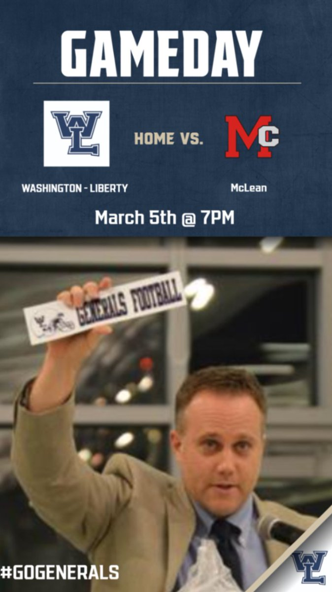 TONIGHT:   <a target='_blank' href='http://twitter.com/WLFootball'>@WLFootball</a> HOME vs. <a target='_blank' href='http://twitter.com/McLeanathletics'>@McLeanathletics</a> (7pm kick-off)  Streamed LIVE on our <a target='_blank' href='http://twitter.com/YouTube'>@YouTube</a> channel