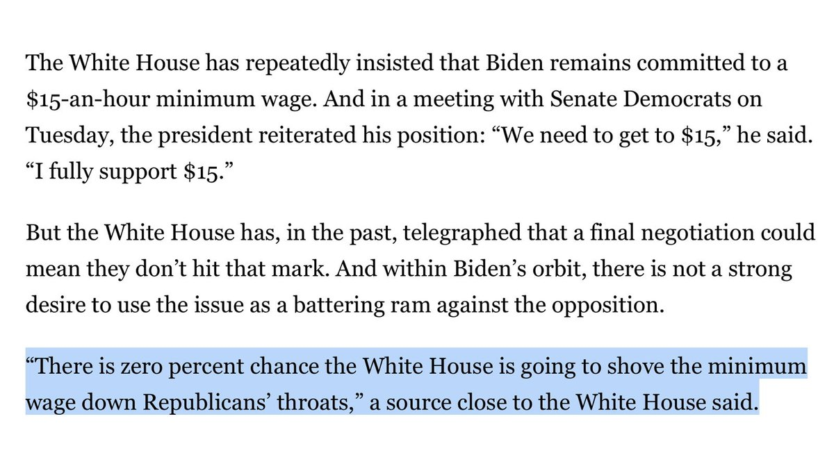 """Great: """"There is zero percent chance the White House is going to shove the minimum wage down Republicans' throats"""""""