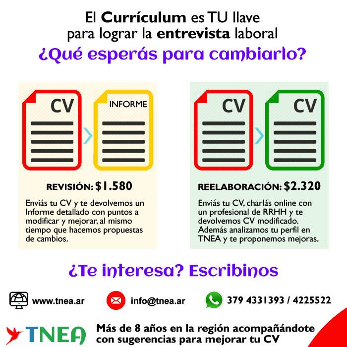 ➡️ El #Currículum es TU llave para lograr la #entrevista laboral  ➡ Comunicate con nosotros: 📲 Móvil / Whatsapp: 3794331393 >  📧 info@tnea.ar 🌎   #TNEA #Corrientes #Chaco #Misiones #Formosa #trabajoar #empleoar #Curriculum