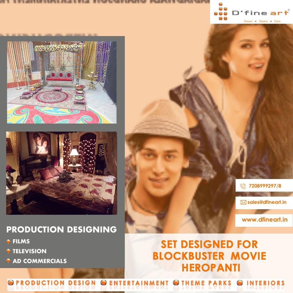 Throwback to the time we created this beautiful set for blockbuster movie Heropanti  Production designer- @narendrarahurikar #Heropanti #dfineart #narendrarahurikar #bollywood #SajidNadiadwala #TigerShroff #kritisanon #tarasutaria #Heropanti2 #ThrowbackThursday #tadap