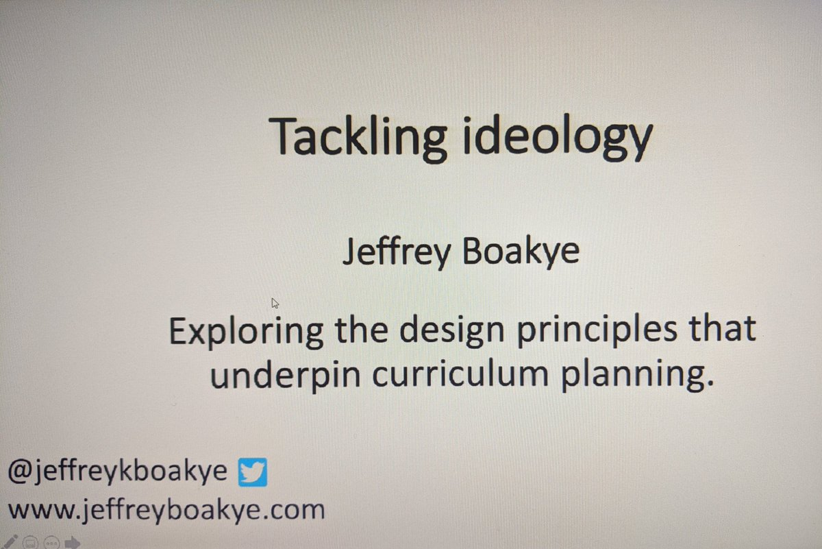Absolutely fascinating CPD on curriculum design, purpose and intention. How is our curriculum going to react to change while fulfilling its purpose? @jeffreykboakye #CPD #curriculum