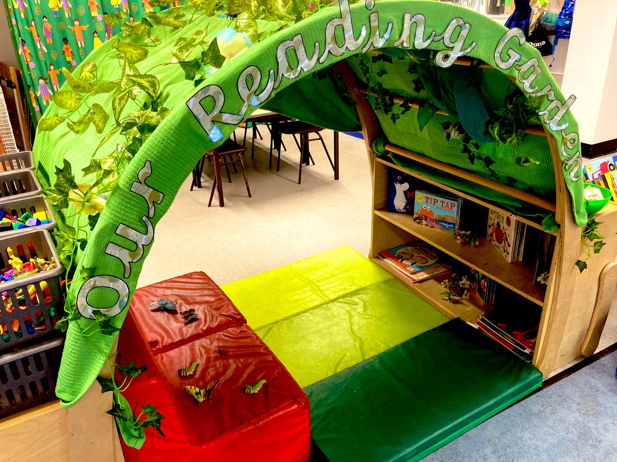 Reception's reading area is looking fabulous and ready to welcome the children back on Monday! #reading #EYFS #curriculum