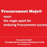 "Image for the Tweet beginning: ""Your Procurement Mojo® won't come"