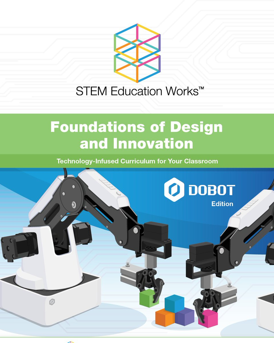 #FlashForward Friday...? With a spin on #FlashbackFriday we want to show you what's to come - Dobot and micro:bit Design and Innovation curriculum series!   Contact brad@stemeducationworks.com for more info on our DIS curriculum.  #coding #STEM #curriculum #robotics #microbit