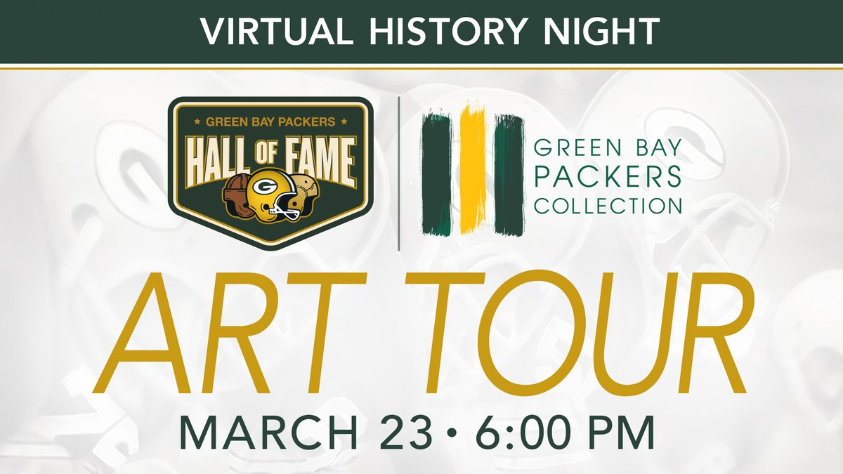 In honor of Youth Art Month, virtually explore some of the Packers-themed artwork that lines the halls of @LambeauField. 🎨 🏈  Register now: