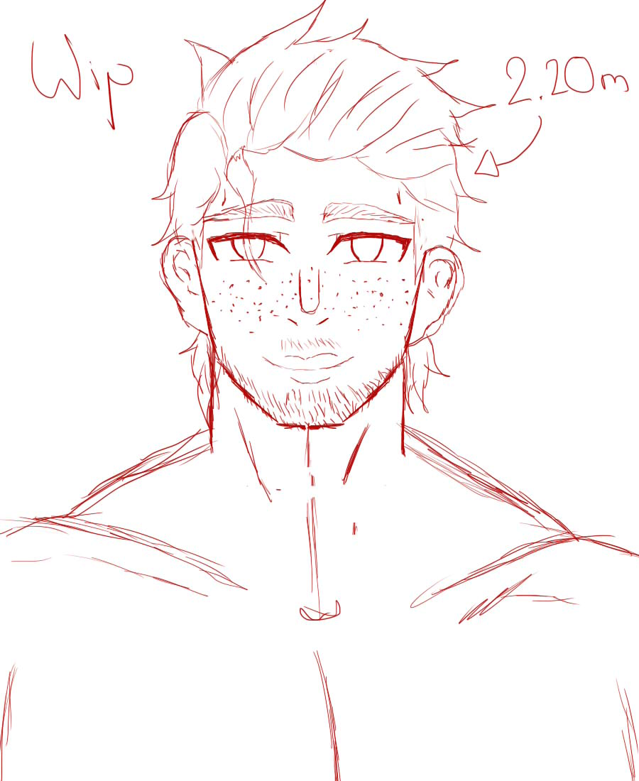 //William(original character)  And here is, he is the only reason of why Dolley had a good life. Name's William Riddle, he's Dolley's father. Maybe he had a big body but he's the most sweet thing that you can found. #art #drawing #originalcharacter