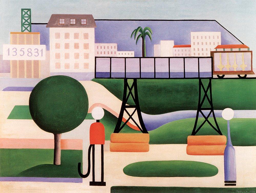 """São Paulo"", painted by Tarsila do Amaral, 1924  #art #apinting #Bazil #culture"