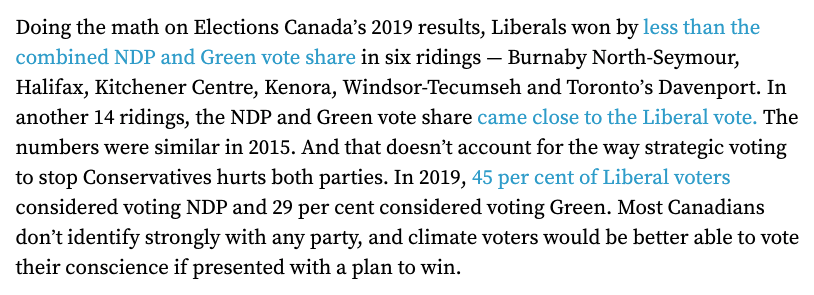 @albertarabbit @EarthsGeneral The stakes couldnt be higher. Thats why we believe its time for a bold plan to get more people elected with a #GreenNewDeal mandate. We did the math. If the Greens and the NDP form a climate emergency accord, they can make real gains across the country next election 👇