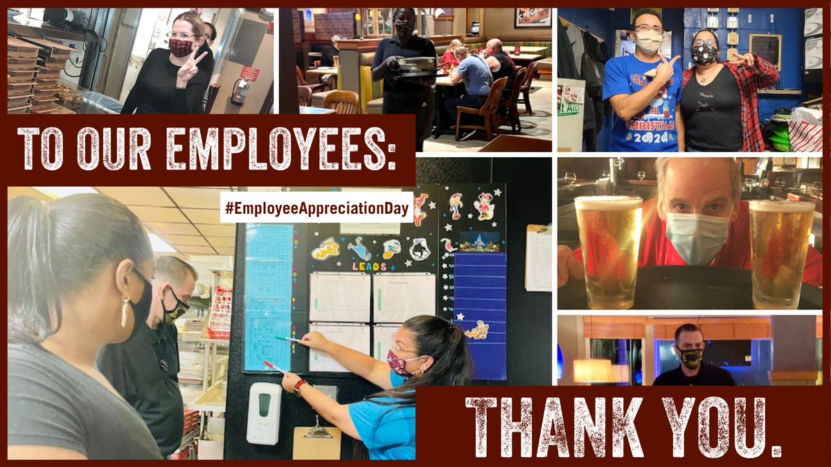 Happy #EmployeeAppreciationDay! We can't even begin to express our gratitude for the employees who have persevered in a year unlike any other. We applaud their commitment to keeping our restaurants - and each other - safe. Cheers to you, Team UNO's!