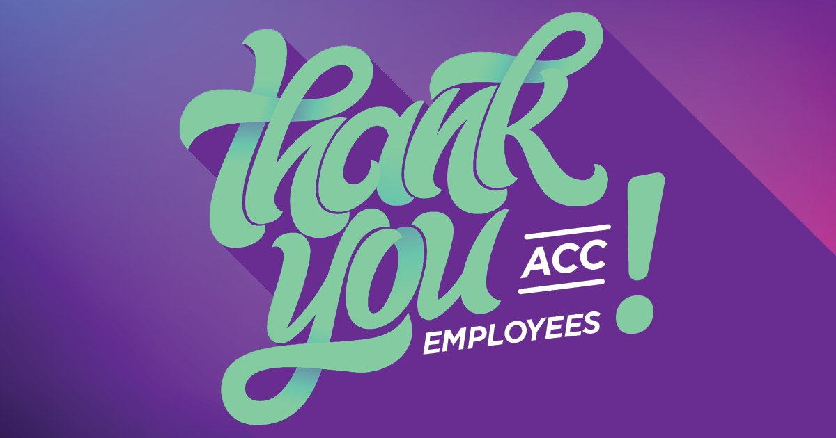 Psst, it's National #EmployeeAppreciationDay! To every employee across our 11 campuses – YOU make a difference, and we are so thankful for YOU! 💜👏🦇 Take a moment and share a note to thank an ACC employee who's doing great things. ➡️