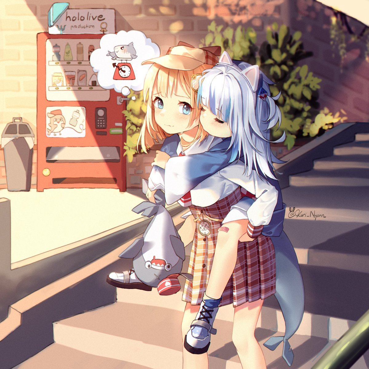 Gura x Amelia : Sequel #2 All day having fun together now it's time to go home...she's not small tho #gawrt #gawrgura #ameliaRT #amesame