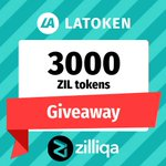 Image for the Tweet beginning: LATOKEN @zilliqa Giveaway! 3 lucky