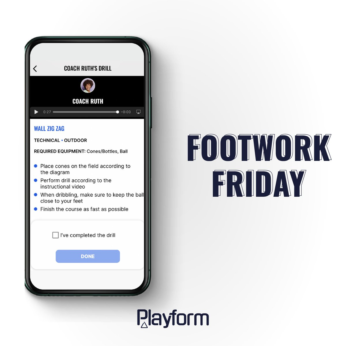You keepin' on your toes this Footwork Friday?⚽👣🚀  #measure #train #win #Playform #soccer #sportstech #sportstechie #collab #inovate #play #tech #baller #soccerskills #soccerdrills #beautifulgame #youthsoccer #elite #academy #dribble #soccergame #passion #team #soccerteam
