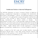 Excited to announce we are looking for a postdoc to work with us at Emory on regulation of sporulation initiation in C. diff 🧬🧫🧪 Please RT! #Cdiff #postdocjobs #microbiology #metabolism