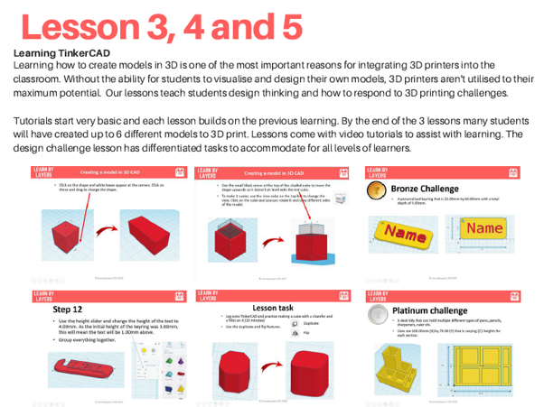 Want to preview the #curriculum? Here's some of the slides from lesson 3,4 and 5. Easy to follow images complete with video tutorials making #teaching #3dprinting easy and enjoyable. Resources for schools are downloadable and editable. Learn more here  #k12