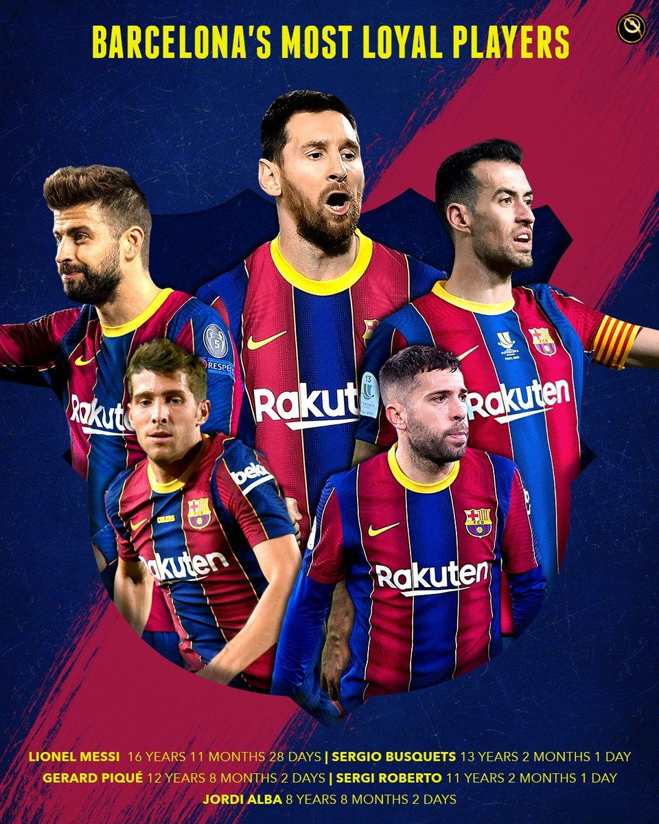 💙❤️ FC Barcelona's most loyal players