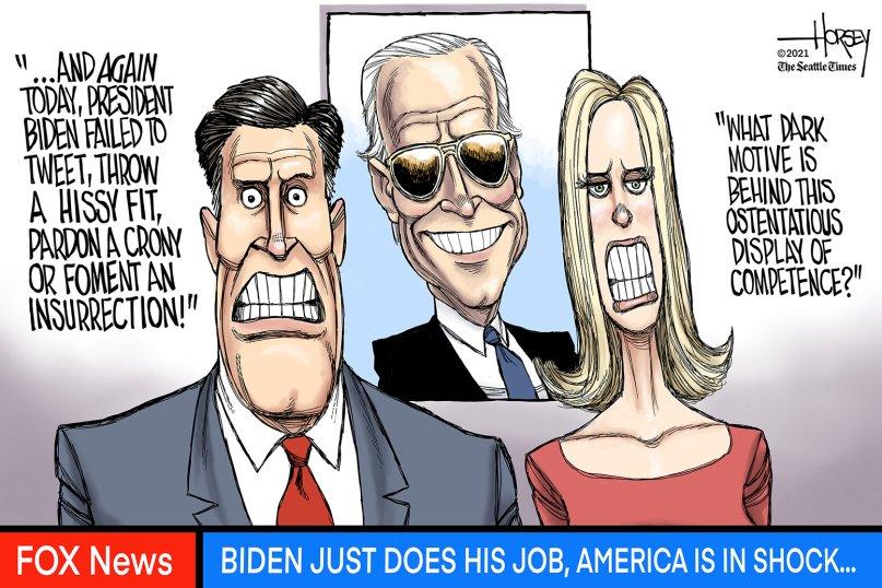 An editorial #cartoon by David Horsey   #PresidentBiden