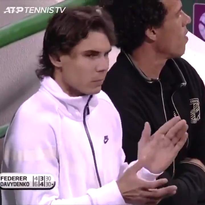 Rafa 👏 Roger  Doha 2010: Game recognise Game  @RafaelNadal @rogerfederer