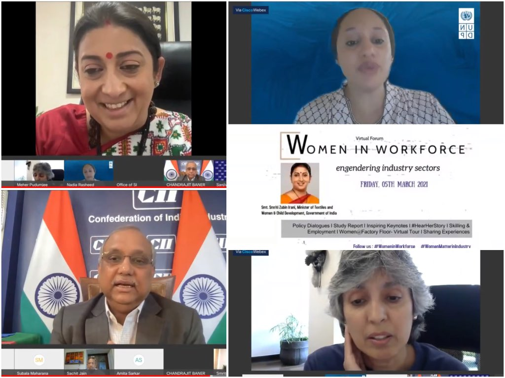 At @FollowCII virtual forum on Women in Workforce, shared my thoughts on engendering industry sectors.   Time has come for everyone to realise -   If you do not engender businesses, you risk endangering them!