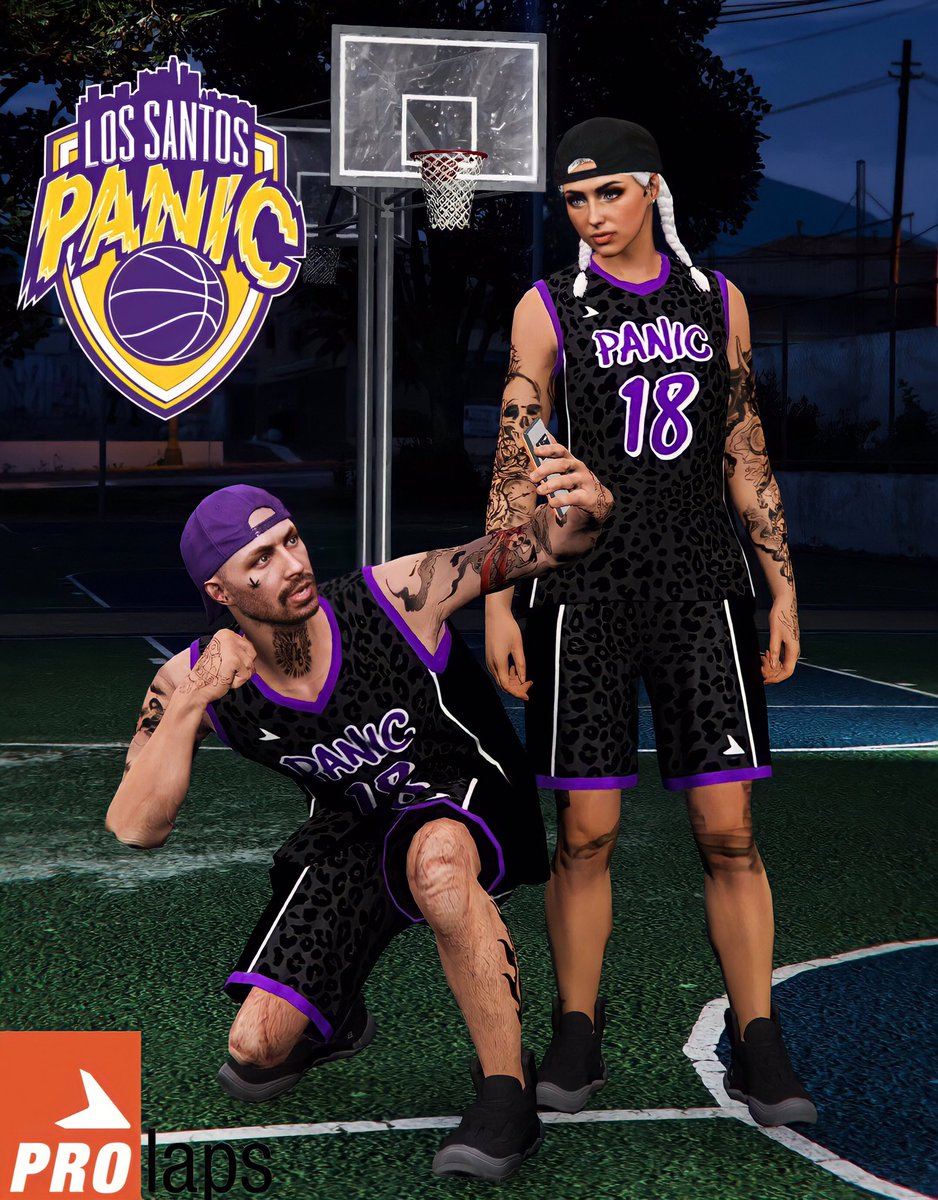 Panic ProLaps Basketball Top and Shorts 🏀🔥 @RockstarGames  #GTAOnline