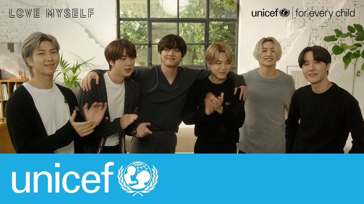 #BTS And #BigHit Renew Commitment To #LoveMyself Campaign With #UNICEF And Pledge $1 Million Donation!👏👑👑👑👑👑👑👑💜