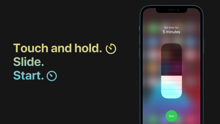 Quickly set a timer right from Control Center. ⏲  Like this.