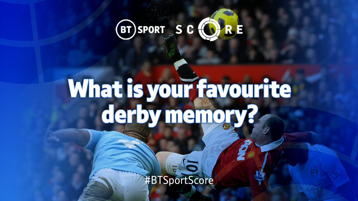 This weekend, Manchester City take on Manchester United, while a huge Madrid derby could help settle La Liga's title race! ⚔️  So we're asking...   What's your favourite derby memory and WHY? 🤔  Best replies get on tomorrow's show! 📺  #BTSportScore