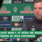 Image for the Tweet beginning: #Werder muss beim #Effzeh ran