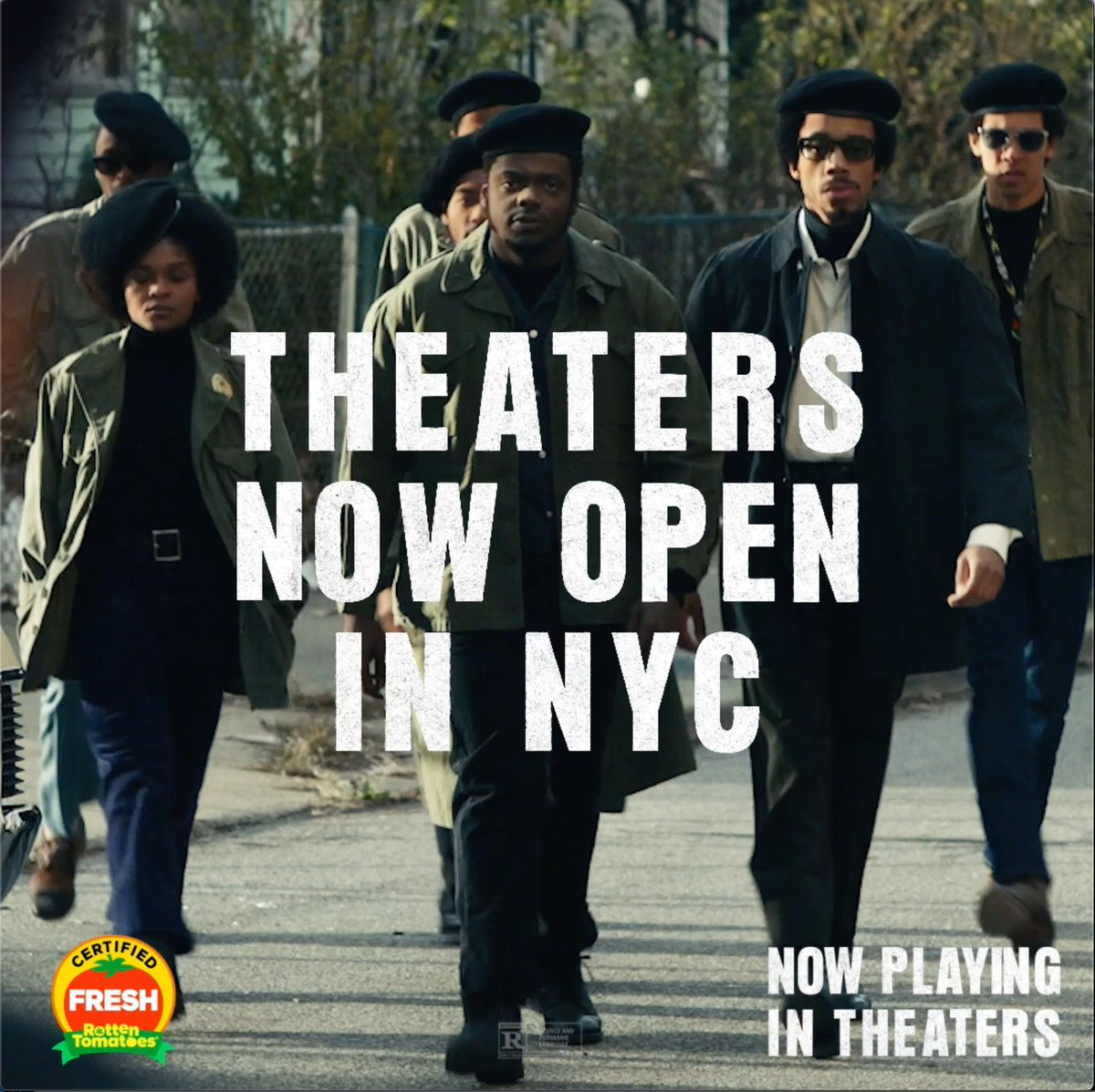 Big movies are back in NYC. Get tickets for #JudasAndTheBlackMessiah - now playing in theaters: judasandtheblackmessiah.com