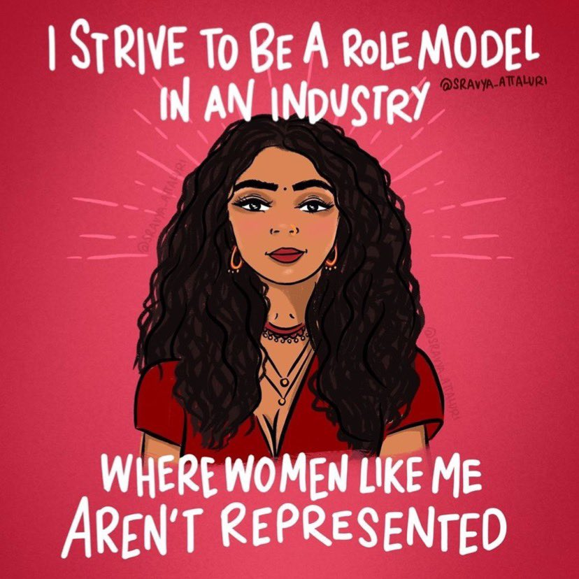 I strive to one day be a role model *BECAUSE* I didn't see women like me growing up in L.A. and that's not okay. it's important that young brown girls know that they are welcome in the entertainment industry and CAN become industry leaders! #Representationmatters https://t.co/kxVtQCrD3J