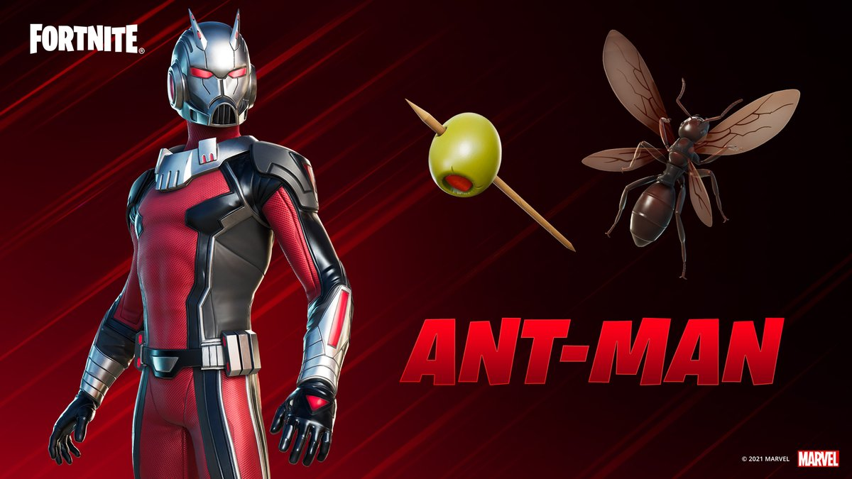 Replying to @FortniteGame: Sorry we didn't see you there Ant-Man.  Grab Ant-Man and more Marvel Heroes in the Item Shop now!