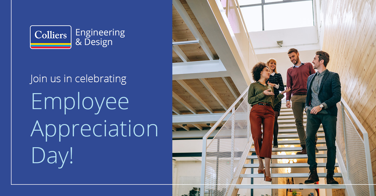 Happy Employee Appreciation Day from all of us here at Colliers Engineering & Design! We appreciate our incredible team members. You make us who we are. #EmployeeAppreciationDay