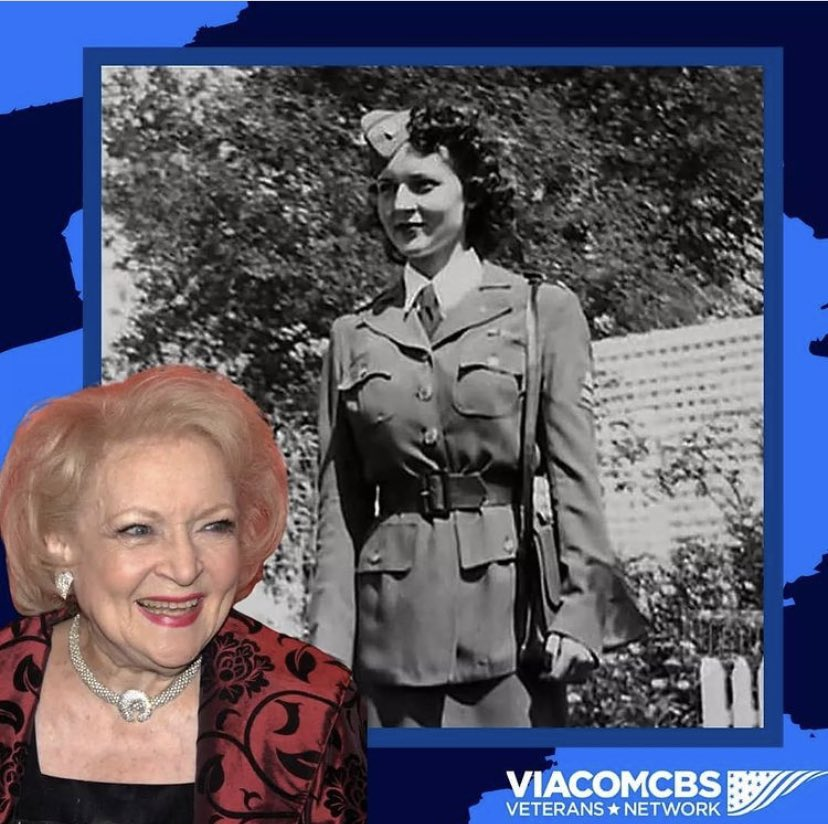 During #WWII #BettyWhite put her tv career on hold & volunteered for the American Women's Voluntary Services Assignments included transport of military supplies through California She also participated in events for troops before they were deployed overseas #ViacomCBSVetNet #WHM