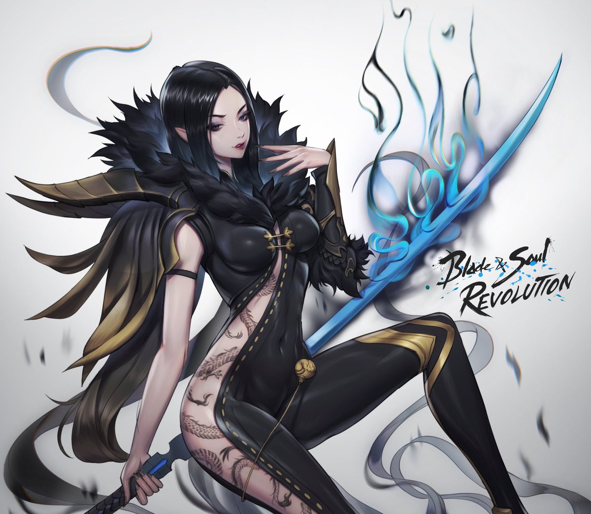 It was really fun to do a sponsorship art for them! Now there's a mobile version of the game out! Blade and Soul: revolution definitely check it out! bit.ly/3jHYQaU #revengeawaits #bnsr #netmarble #ad