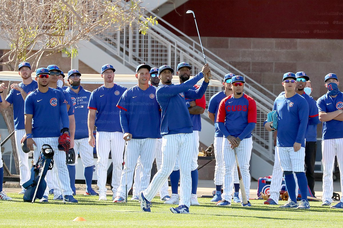 Replying to @baseballinfocus: #Cubs top prospect @BrennenDavis__ wins today's golf challenge. #SpringTraining