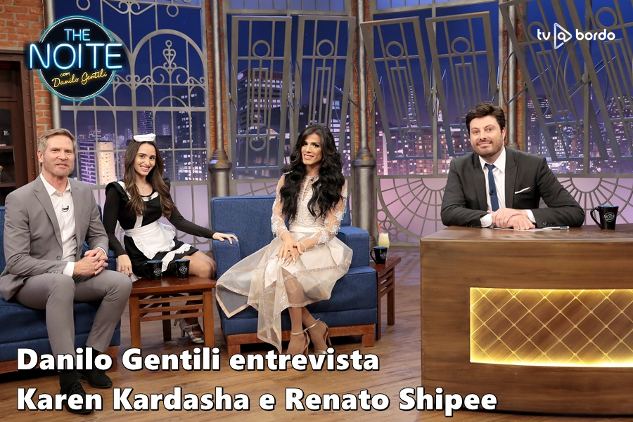 #TheNoite @DaniloGentili Danilo Gentili entrevista Karen Kardasha @KarenKardasha  e Renato Shipee